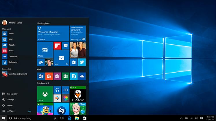 Microsoft ne baga pe gat Windows 10